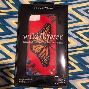 Butterfly wildflower case